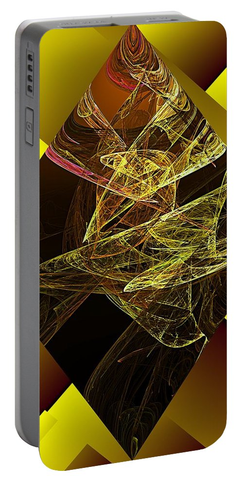 Abstract Digital Painting Portable Battery Charger featuring the digital art Untitled 11-06-09 by David Lane