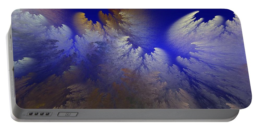 Abstract Digital Painting Portable Battery Charger featuring the digital art Untitled 11-1-09 by David Lane