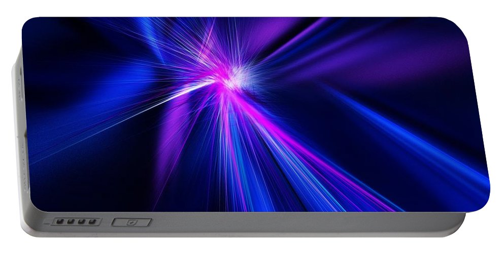 Abstract Digital Painting Portable Battery Charger featuring the digital art Untitled 11-18-09 by David Lane