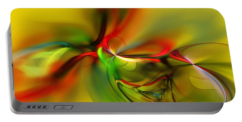 Digital Painting Portable Battery Charger featuring the digital art Untitled 4-13-10-a by David Lane