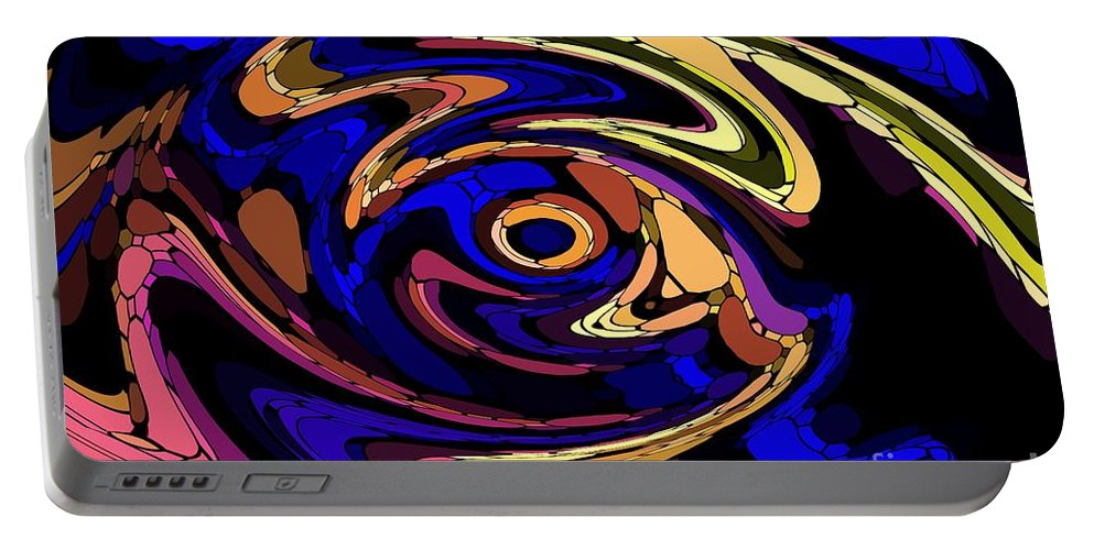 Abstract Portable Battery Charger featuring the digital art Untitled 7-04-09 by David Lane