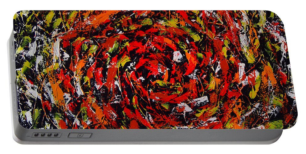 Abstract Portable Battery Charger featuring the painting Untitled by Dean Triolo