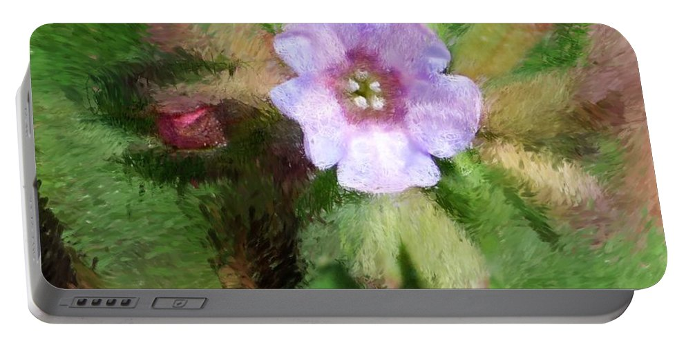 Digital Photo Portable Battery Charger featuring the photograph Untitled Floral -1 by David Lane