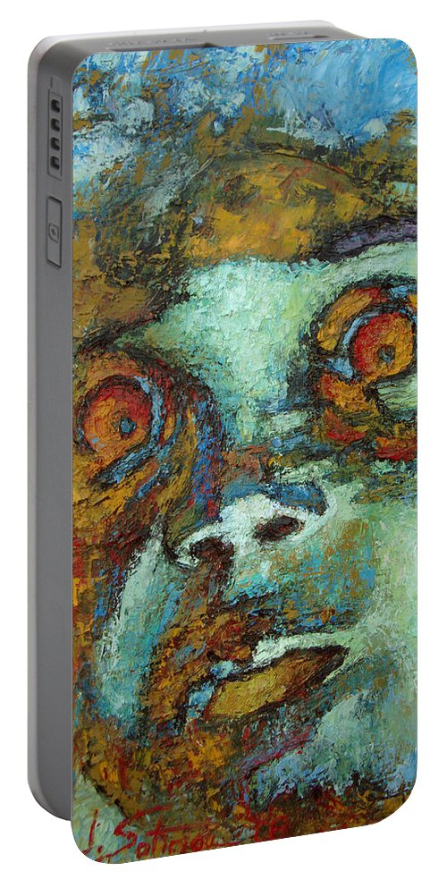 Oil Portable Battery Charger featuring the painting Untitled by Ioulia Sotiriou