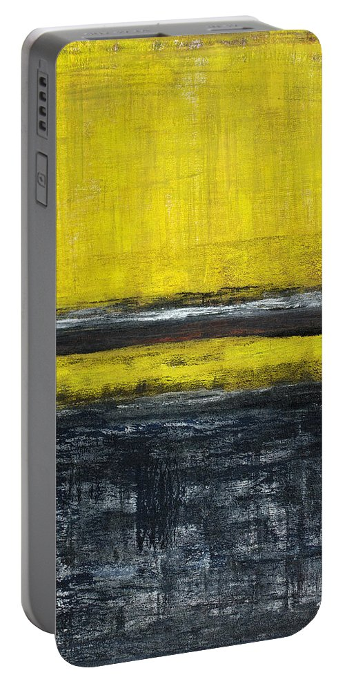 Yellow Portable Battery Charger featuring the painting Untitled No. 11 by Julie Niemela