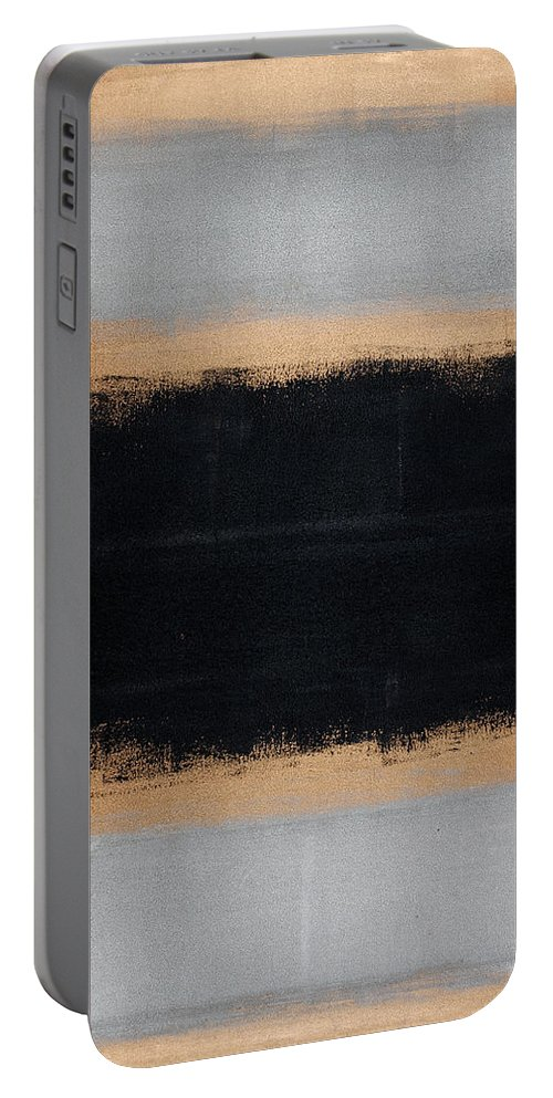 Blue Portable Battery Charger featuring the painting Untitled No. 15 by Julie Niemela