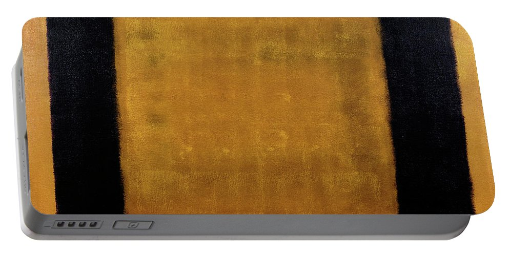 Brown Portable Battery Charger featuring the painting Untitled No. 17 by Julie Niemela
