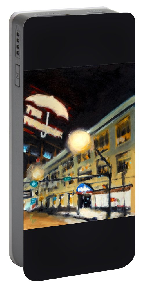 Rob Reeves Portable Battery Charger featuring the painting Untitled by Robert Reeves