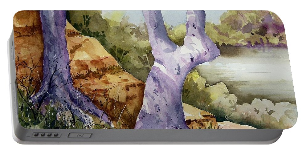 Tree Portable Battery Charger featuring the painting Untitled by Sam Sidders