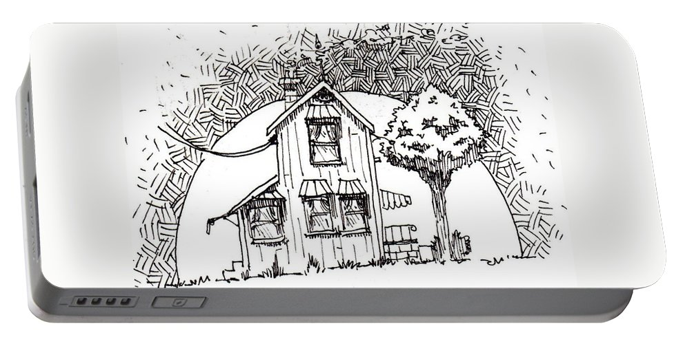 House Portable Battery Charger featuring the drawing Untitled by Tobey Anderson