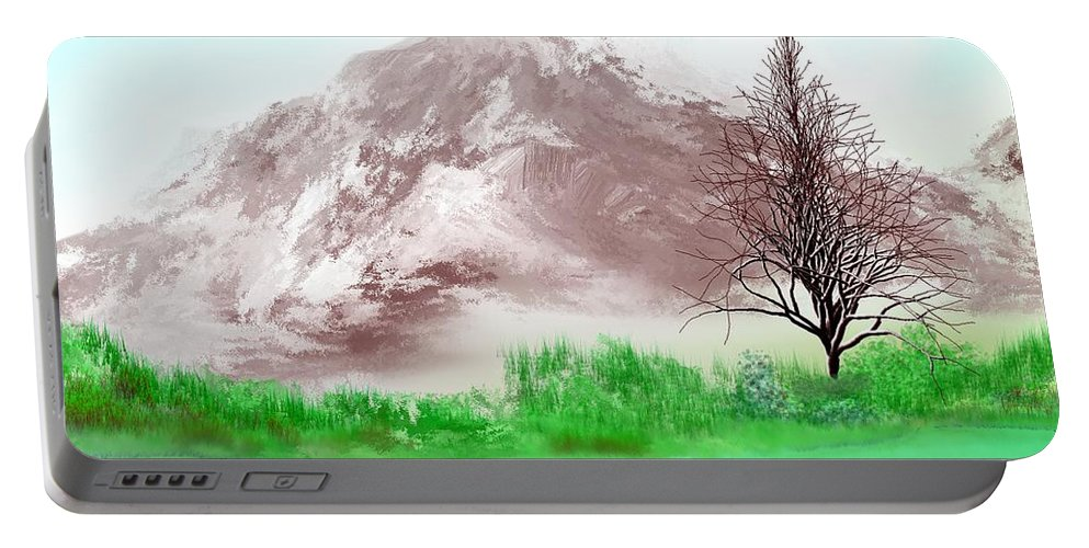 Landscape Portable Battery Charger featuring the digital art Untitled Wip by David Lane