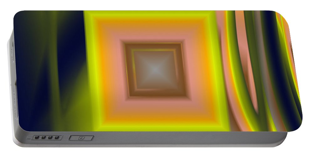 Square Portable Battery Charger featuring the digital art Untitled Xii by Tiia Vissak