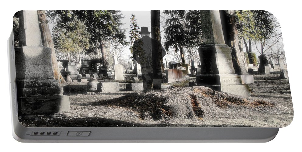 Spirit Portable Battery Charger featuring the photograph Unwilling To Go by September Stone