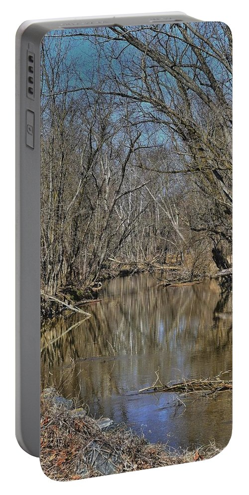 Woods Portable Battery Charger featuring the photograph Up A Creek by Earl Telfair
