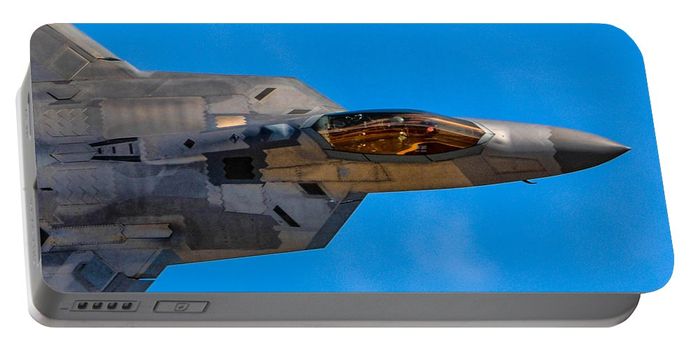 California Portable Battery Charger featuring the photograph Up Close F-22 Raptor by Tommy Anderson