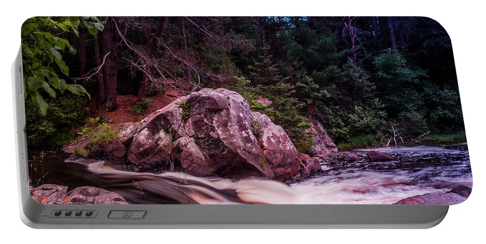 Waterfall Portable Battery Charger featuring the photograph Up Nort' by Scott Perkins