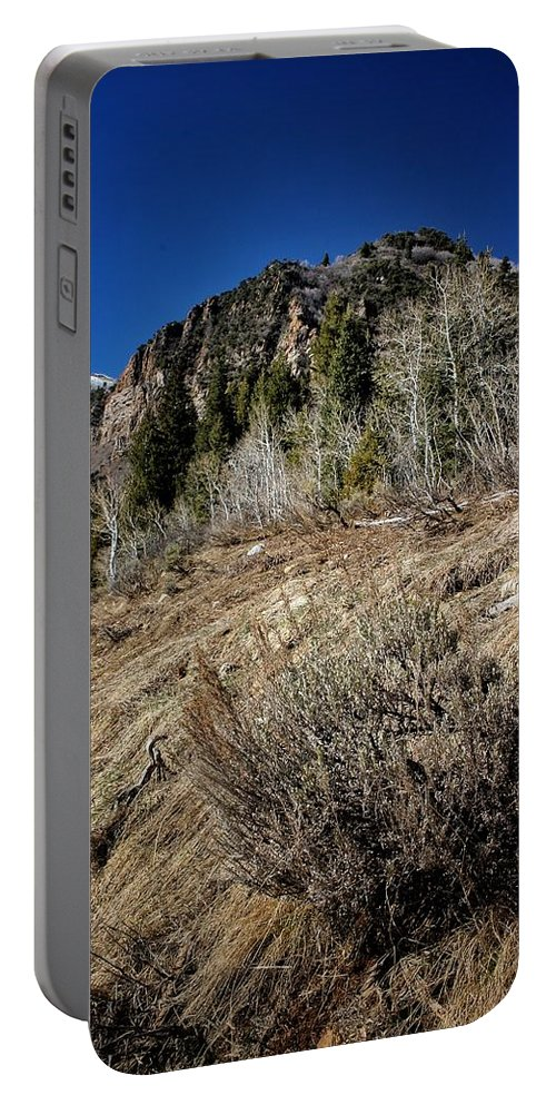 Up Portable Battery Charger featuring the photograph Up The Hill by Buck Buchanan