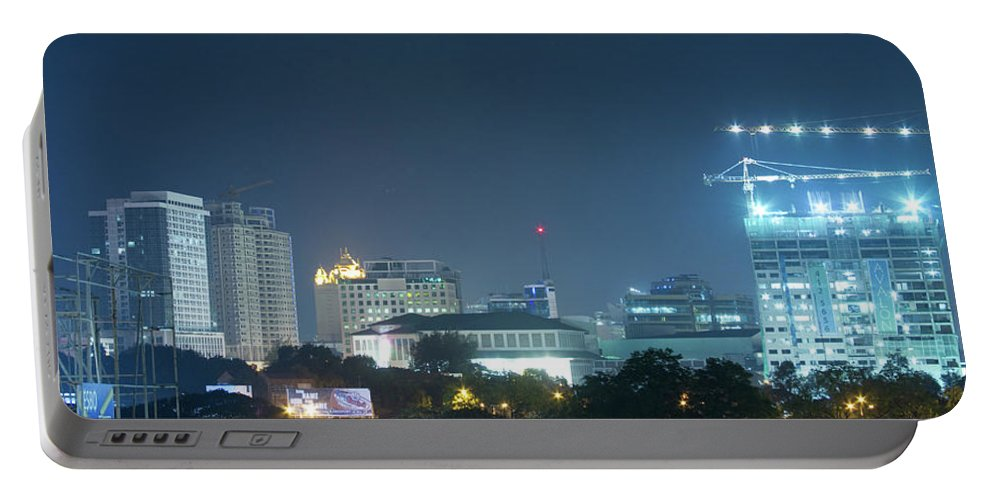 Insogna Portable Battery Charger featuring the photograph Up Town Cebu City Lights by James BO Insogna