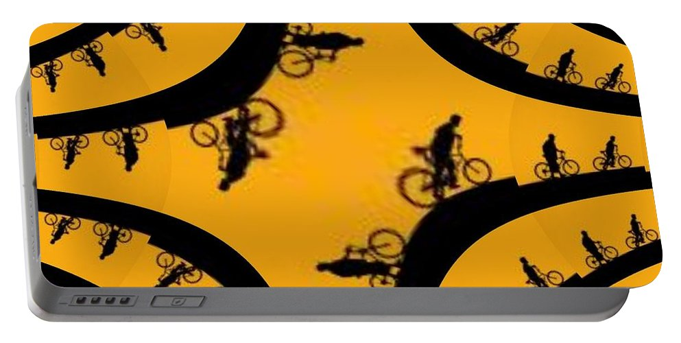 Bicycle Portable Battery Charger featuring the photograph Uphill Downhill by Tim Allen