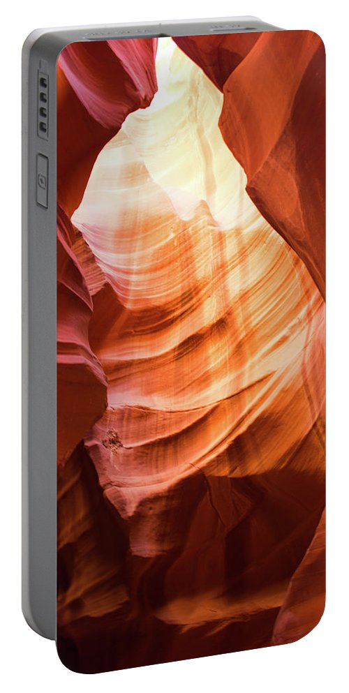 Antelope Portable Battery Charger featuring the photograph Upper Antelope Canyon by Shelly Priest