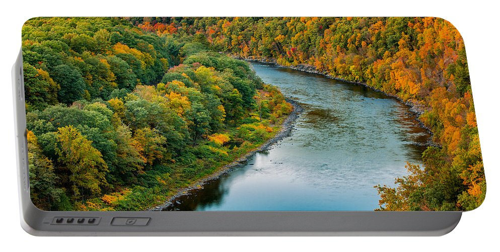 Hawks Nest Portable Battery Charger featuring the photograph Upper Delaware River by Mihai Andritoiu