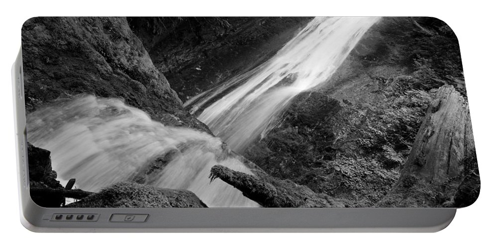 Travel Portable Battery Charger featuring the photograph Upper Madison Creek Falls Three by Nicholas Miller