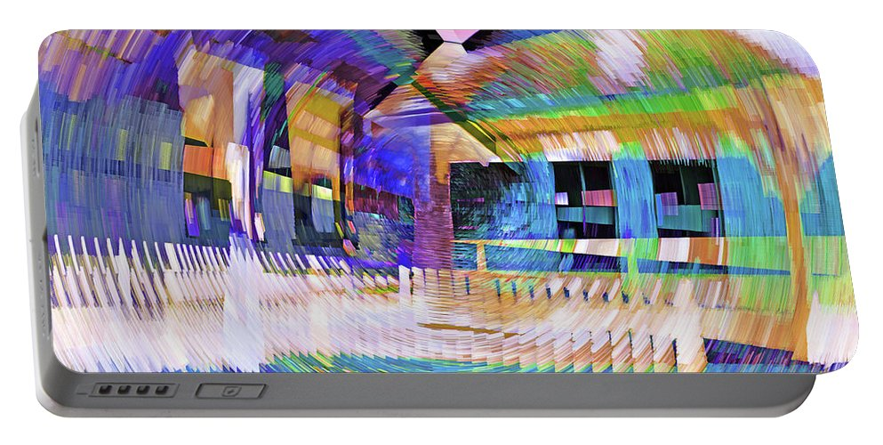 City Portable Battery Charger featuring the photograph Urban Abstract 333 by Don Zawadiwsky