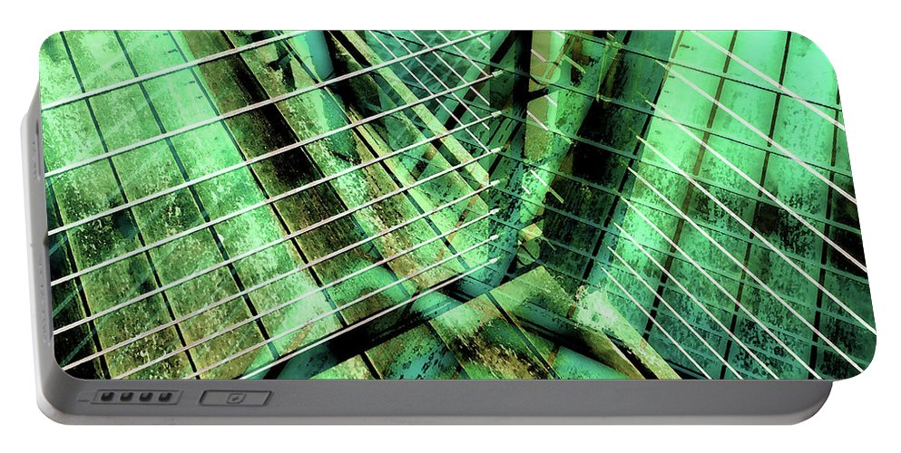 City Portable Battery Charger featuring the photograph Urban Abstract 405 by Don Zawadiwsky
