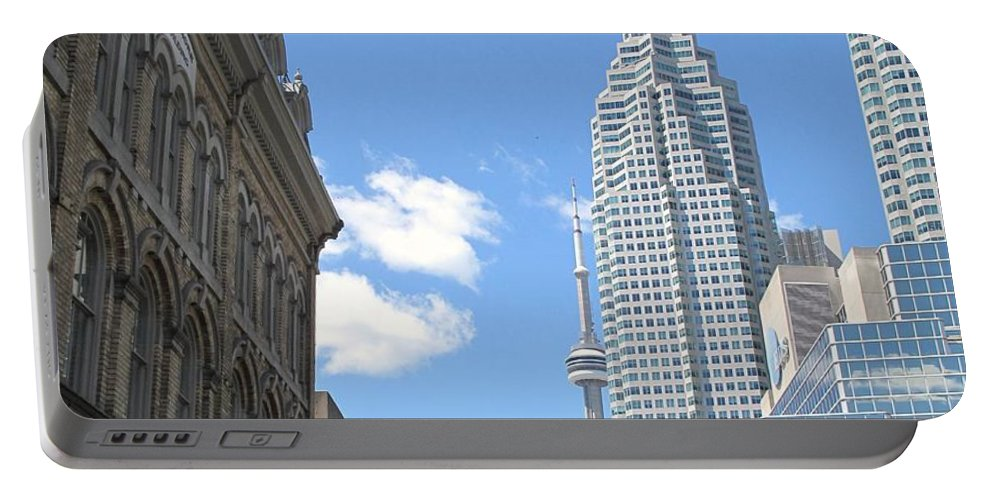Front Street Portable Battery Charger featuring the photograph Urban Canyon by Ian MacDonald