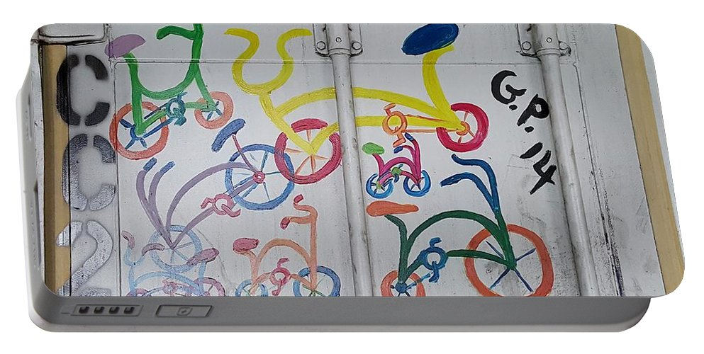 Bike Portable Battery Charger featuring the photograph Urban Container Art I I by Rob Hans