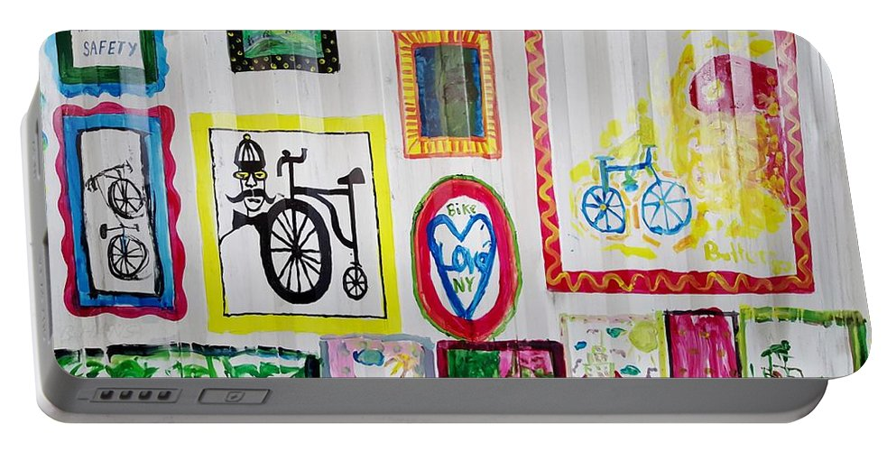 Bike Portable Battery Charger featuring the photograph Urban Container Art V by Rob Hans