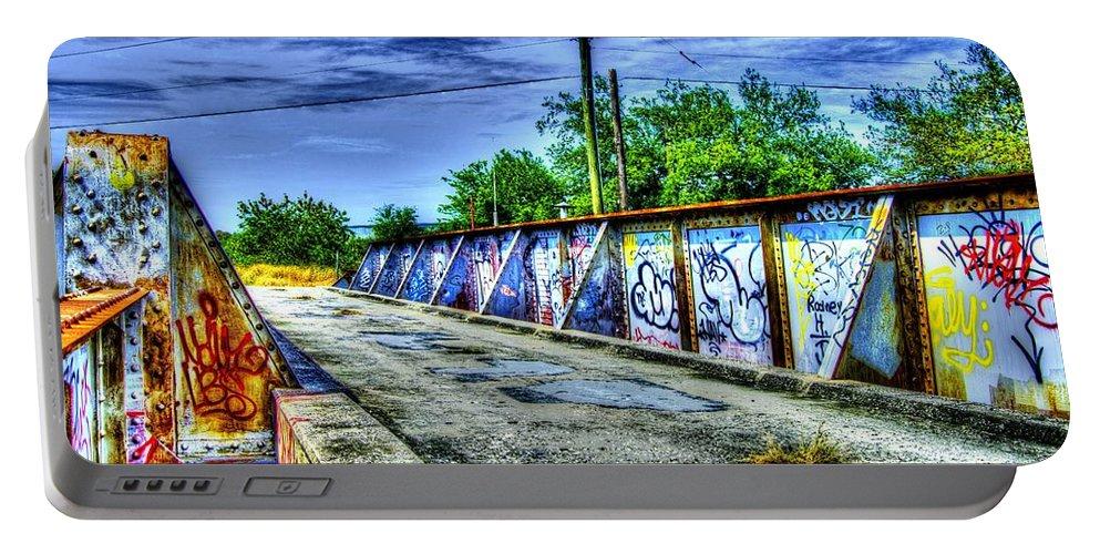 Urban Portable Battery Charger featuring the photograph Urban Overpass by Matthew Fernandez