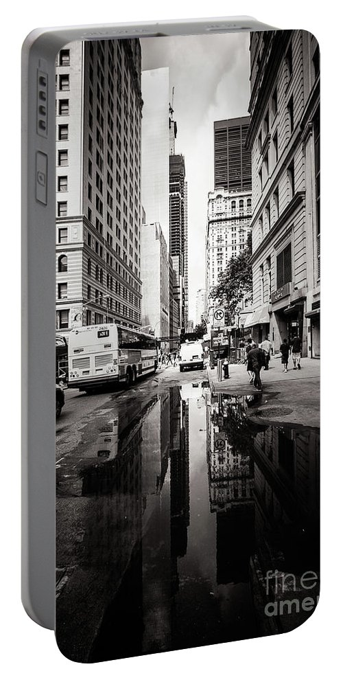 New York Portable Battery Charger featuring the photograph Urban Reflections by Mirko Chianucci