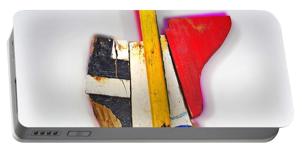 Usa Portable Battery Charger featuring the mixed media USA by Charles Stuart