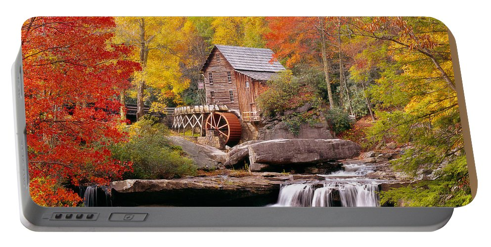 Photography Portable Battery Charger featuring the photograph Usa, West Virginia, Glade Creek Grist by Panoramic Images