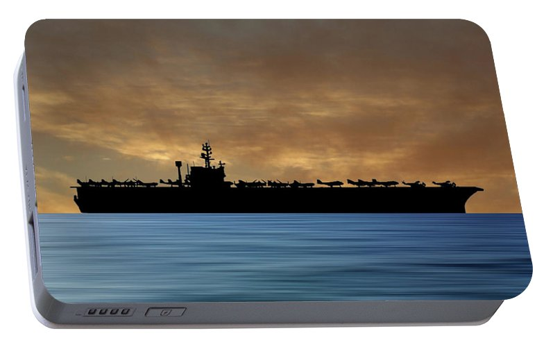 Uss John F Kennedy Portable Battery Charger featuring the photograph Uss John F. Kennedy 1968 V2 by Smart Aviation