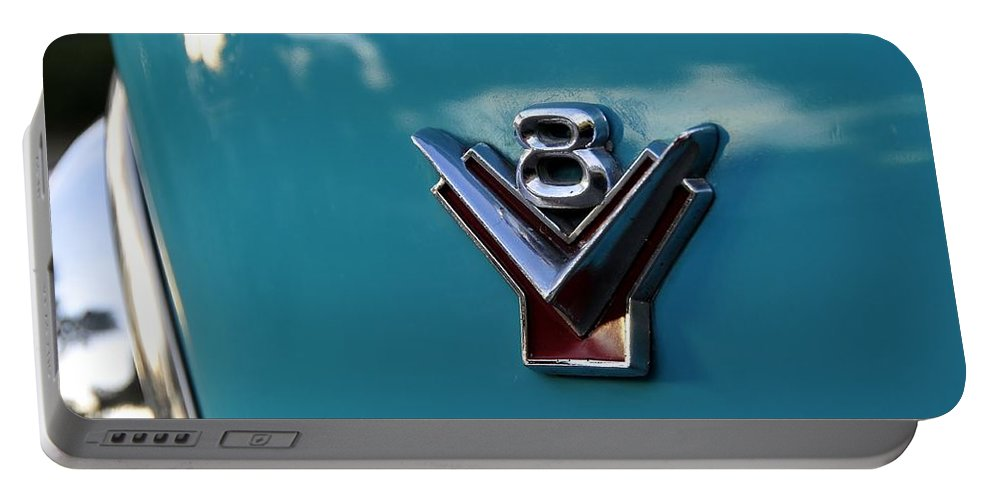 V 8 Portable Battery Charger featuring the photograph V 8 by David Lee Thompson