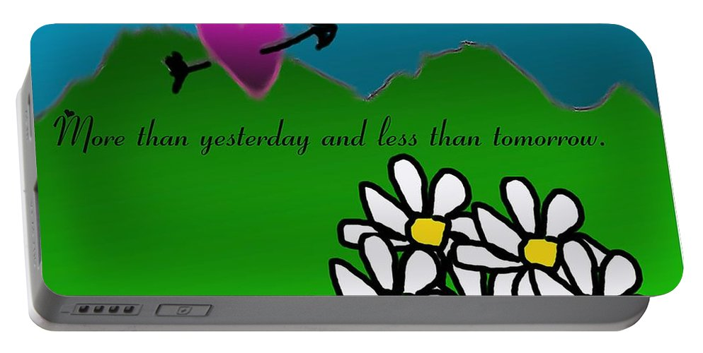Valentine Card Portable Battery Charger featuring the digital art Valentine Card by David Lane