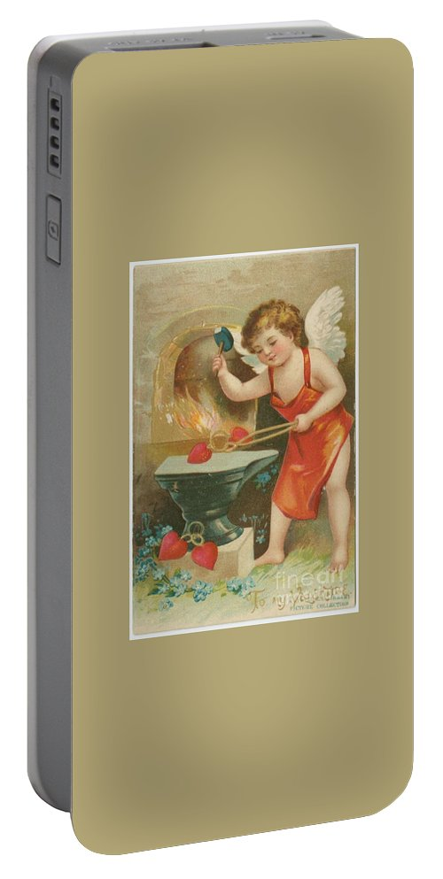 Valentine Design Five Portable Battery Charger featuring the painting Valentine Design Five by Pd