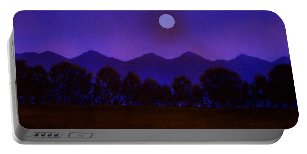 Night Portable Battery Charger featuring the painting Valley Light by Frank Wilson