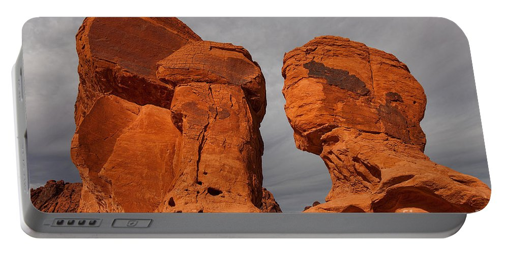Valley Of Fire State Park Portable Battery Charger featuring the photograph Valley Of Fire State Park Seven Sisters by Jason O Watson