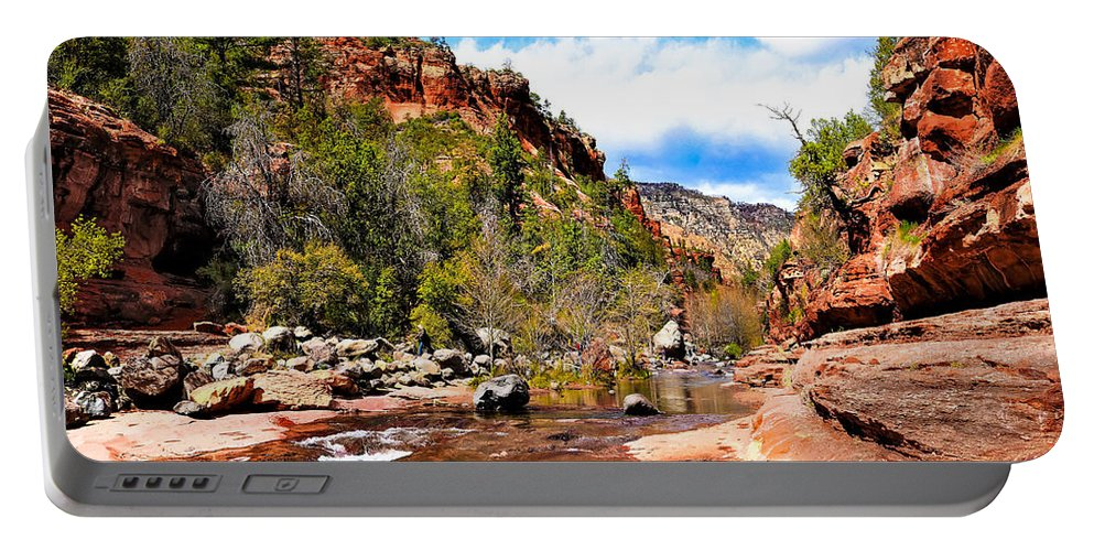 Portable Battery Charger featuring the photograph Valley Of Life by Charles Duax