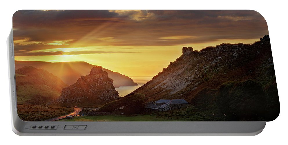 Valley Of The Rocks Portable Battery Charger featuring the photograph Valley Of The Rocks by Ceri Jones
