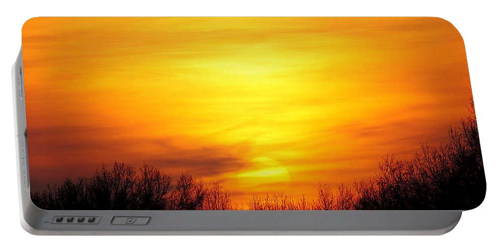 Sun Portable Battery Charger featuring the photograph Valley Of The Sun by Frozen in Time Fine Art Photography