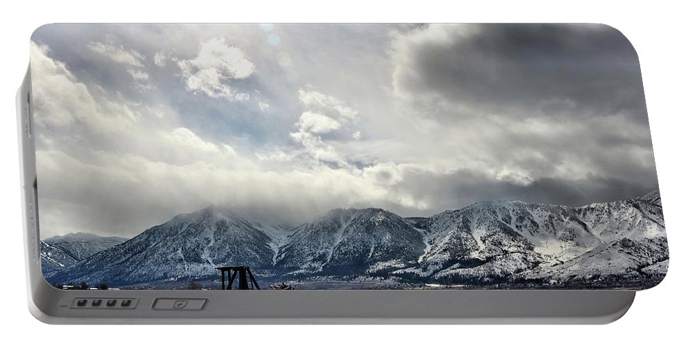 Old Farm Portable Battery Charger featuring the photograph Valley Storm by Rosalyn Zacha