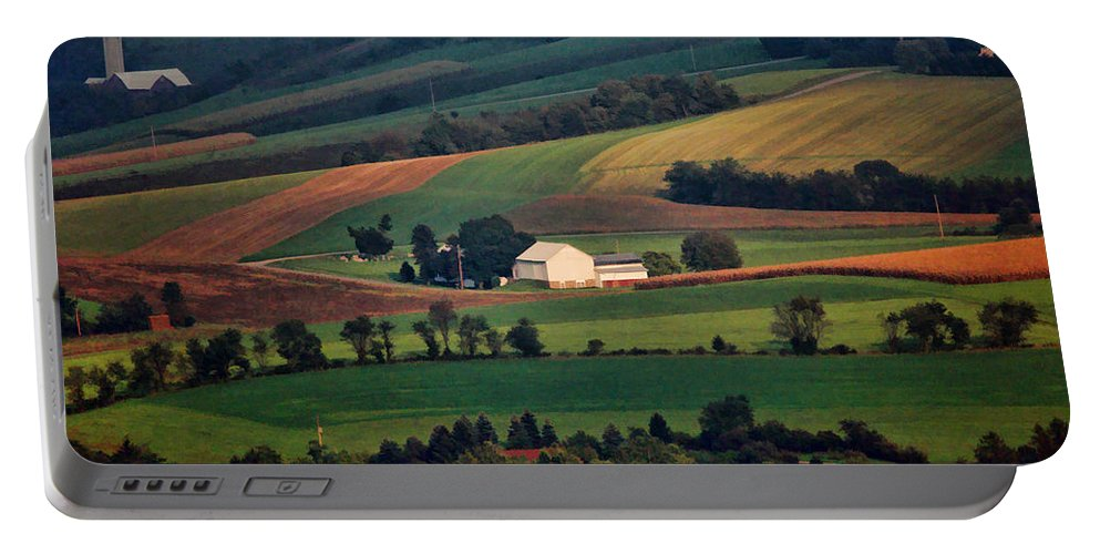 Landscape Portable Battery Charger featuring the photograph Valley by William Jobes