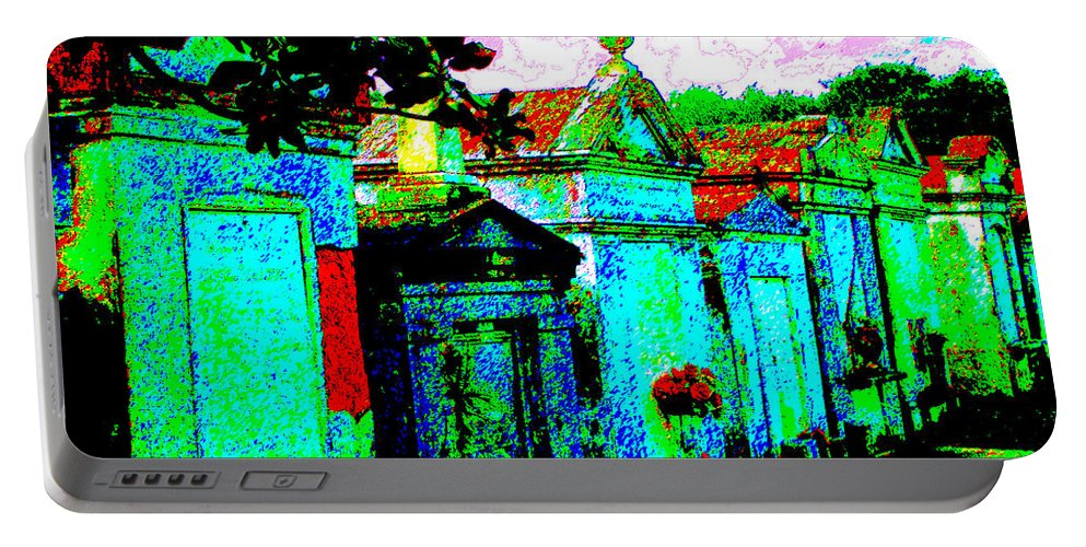 New Orleans Portable Battery Charger featuring the photograph Vampire Tombs New Orleans by Jerome Stumphauzer