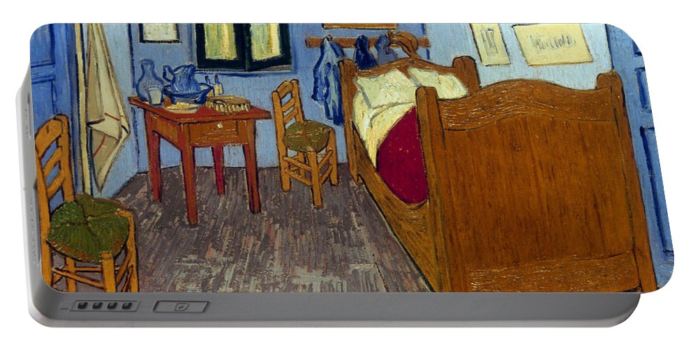 1889 Portable Battery Charger featuring the photograph Van Gogh: Bedroom, 1889 by Granger