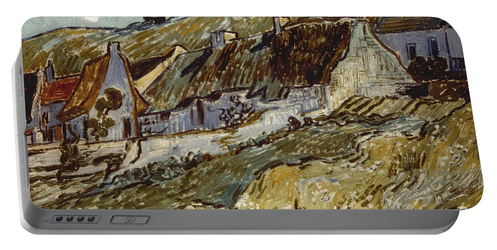 1890 Portable Battery Charger featuring the photograph Van Gogh: Cottages, 1890 by Granger