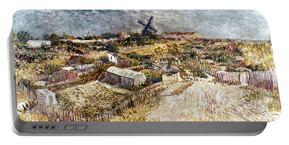 1887 Portable Battery Charger featuring the photograph Van Gogh: Gardens, 1887 by Granger